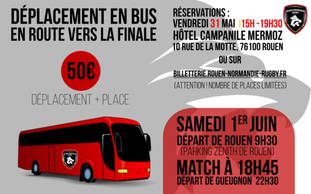 Déplacement Bus – Finale Trophée Jean Prat