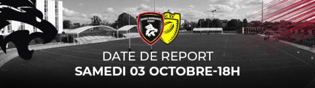 Date de report RNR-Carcassonne